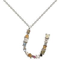 Серебряное ожерелье P D Paola I AM с буквой U, фото