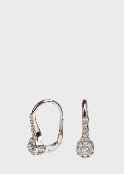 Серьги с бриллиантами Ponte Vecchio из белого золота, фото
