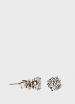 Серьги-гвоздики Ponte Vecchio с белыми бриллиантами, фото