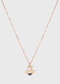 Цепочка с кулоном Ponte Vecchio с бриллиантом и сапфиром, фото