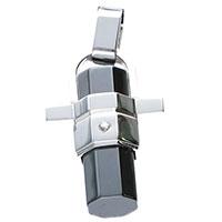 Крест-подвеска Baraka с бриллиантом серебристого цвета, фото
