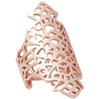Кольцо Armadoro Jewelry широкое узорное из розового золота, фото