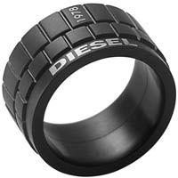 Кольцо DIESEL мужское черное, фото