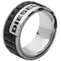 Кольцо DIESEL мужское с кожаными вставками, фото