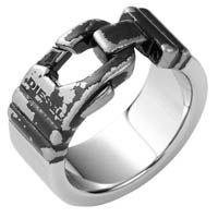 Кольцо DIESEL мужское с оригинальным декором, фото