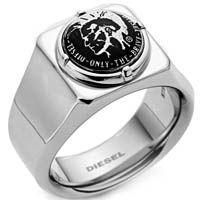 Кольцо DIESEL из глянцевой стали, фото