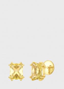 Золотые пусеты Art Vivace Jewelry с цитринами, фото