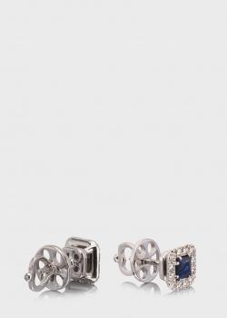 Пусеты Art Vivace Jewelry София с сапфирами, фото