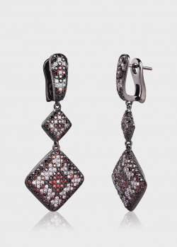 Золотые серьги Art Vivace Jewelry Вдохновение с бриллиантами, фото
