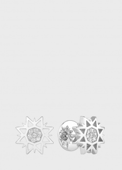 Серьги Art Vivace Jewelry Рождественская звезда с бриллиантами, фото