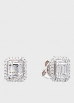 Серьги-пусеты Roberto Bravo Diamond Love-N с белыми бриллиантами, фото