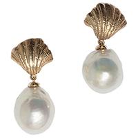 Крупные серьги rockah. Siren's Treasures из ювелирной бронзы с барочными жемчужинами, фото