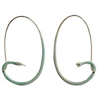 Крупные серьги rockah. Siren's Treasures из ювелирной бронзы, фото