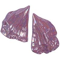 Крупные серьги rockah. Amor Vincit Omnia в виде ракушек фиолетового цвета , фото