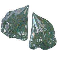 Крупные серьги rockah. Amor Vincit Omnia из фарфора с зеленым перламутром в виде натуральных раковин, фото