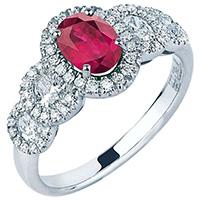 Золотое кольцо Mirco Visconti с рубином, фото