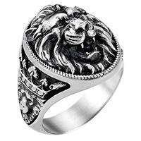 Кольцо Zancan Vintage с головой льва, фото