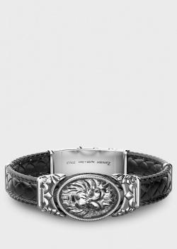 Кожаный браслет Zancan Vintage с серебряной вставкой, фото