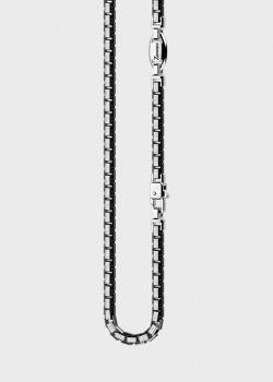 Мужская цепь Zancan Insignia 925 из родированного серебра, фото
