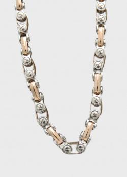 Мужская цепь Zancan из серебра и золота, фото