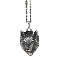 Подвеска из серебра Zancan Vintage в виде головы волка, фото