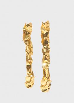 Длинные позолоченные серьги Misho Cascade, фото