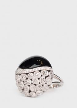 Золотое кольцо Anna Maria Cammilli с черным ониксом, фото
