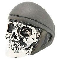 Кольцо Good After Nine Ride or Die в форме серебристого черепа, фото