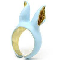Кольцо Good After Nine Ушки голубого цвета, фото