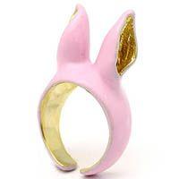 Кольцо Good After Nine Ушки розового цвета, фото