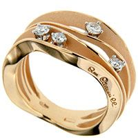 Четырехслойное кольцо Annamaria Cammilli Dune с бриллаинтами, фото