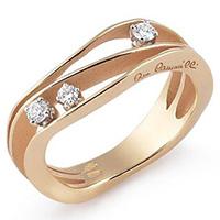 Кольцо из желтого золота Annamaria Cammilli Dune с бриллиантами, фото