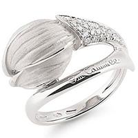 Кольцо из белого золота Annamaria Cammilli Tulipani с бриллиантами, фото