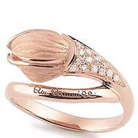 Кольцо Annamaria Cammilli Tulipani из розового золота, фото