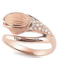 Кольцо Anna Maria Cammilli Tulipani из розового золота, фото