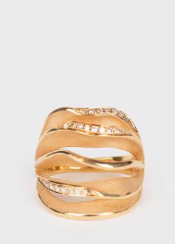 Широкое кольцо Annamaria Cammilli с россыпью бриллиантов, фото