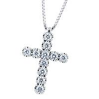 Золотая цепочка с крестиком Mirco Visconti с бриллиантами, фото