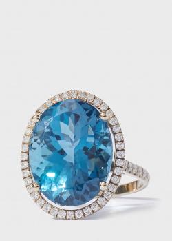 Перстень Gemmis с топазом и бриллиантами, фото