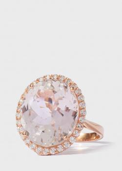Перстень Gemmis с розовым морганитом 12,4ct и белыми бриллиантами, фото