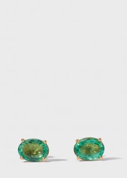 Пусеты Gemmis с изумрудами 2,6ct, фото