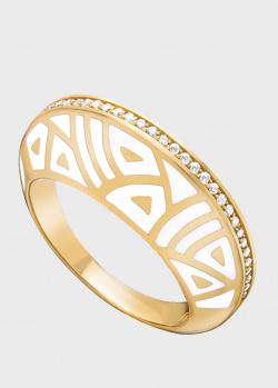 Кольцо из золота Gratus Grace Kelly с эмалью и дорожкой из бриллиантов, фото