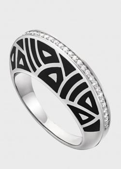 Золотое кольцо Gratus Grace Kelly с дорожкой бриллиантов, фото