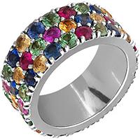 Кольцо из белого золота с сапфирами, фото