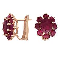 Серьги из красного золота с рубинами, фото