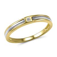 Кольцо из желтого золота с бриллиантом, фото