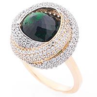 Кольцо из золота с циркониями, фото