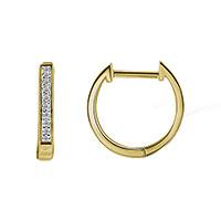 Серьги из желтого золота с бриллиантами, фото