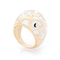 Кольцо из красного золота с эмалью, фото
