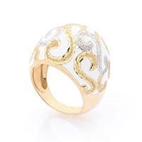 Кольцо из желтого золота с эмалью, фото
