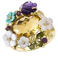 Кольцо из желтого золота, фото